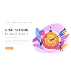 Goals and objectives concept landing page vector