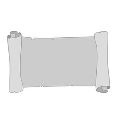 Gray parchment scroll vector