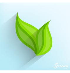 Green leaves in flat style vector image