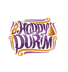 greeting card for purim carnival vector image