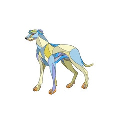 Greyhound Dog Side Mosaic vector