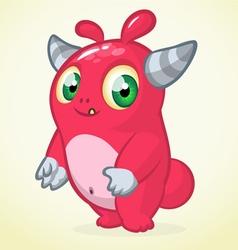 Happy Halloween cartoon pink monster vector image