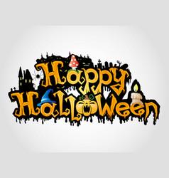 happy halloween sign vector image vector image