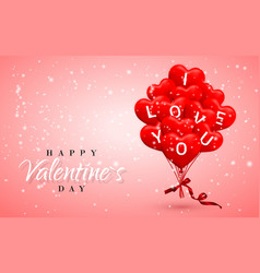 I love you happy valentines day background red vector