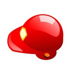icon helmet vector image