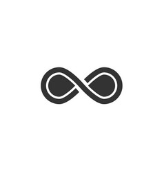 infinity icon graphic design template vector image