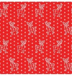 lace deers pattern vector image