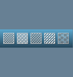 Laser cutting templates for panel decor vector