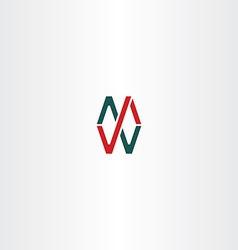 logo letter m and w icon sign vector image