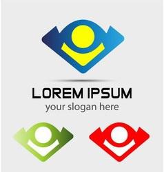 Logo people concept symbol icon vector
