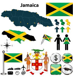 Map of Jamaica vector