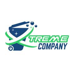 modern extreme trash can logo vector image