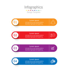 modern infographic template layout for business vector image