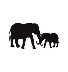 mom and baby elephants family animal wildlife vector image
