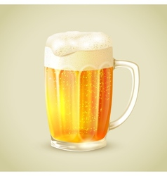 Mug of beer emblem vector