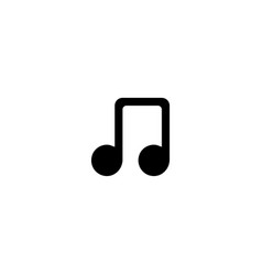 music note icon symbol sign vector image