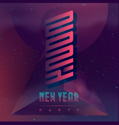 New year 2021 party futuristic design poster vector