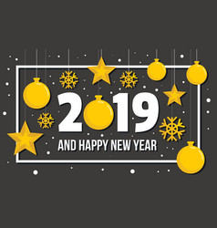 new year concept background flat style vector image