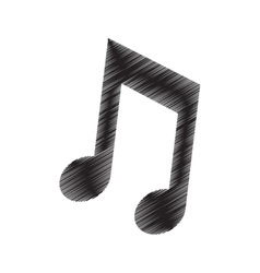 note music sound draw pictogram vector image