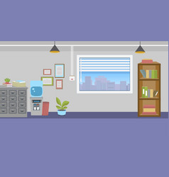 office interior with furniture vector image