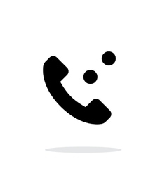 Phone call simple icon on white background vector