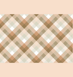 plaid diagonal fabric texture seamless pattern vector image