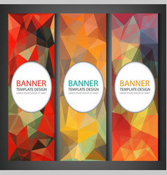 polygonal banners with abstract multicolored vector image