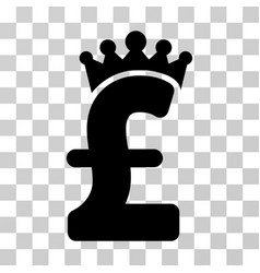 pound crown icon vector image