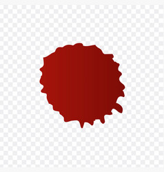 realistic blood splatters and blood drops set vector image