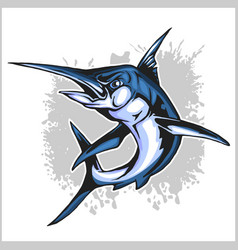 Realistic blue marlin fish vector