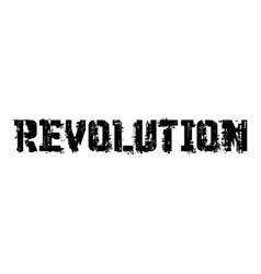 Revolution typographic stamp vector