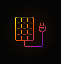 solar panel with socket colorful icon vector image