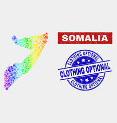 Spectrum factory somalia map and grunge clothing vector