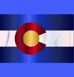 state flag of colorado vector image
