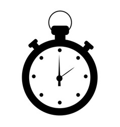 stopwatch isolated cartoon vector image