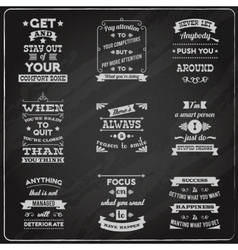 Success quotes set chalkboard vector image