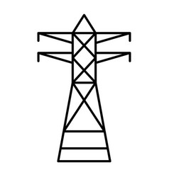 telephone electric tower icon outline style vector image