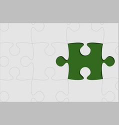 the green red background puzzle piece jigsaw vector image