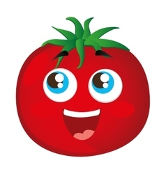 tomato vegetable character cute icon vector image