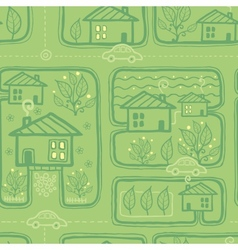 Town streets seamless pattern background vector image