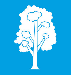 tree icon white vector image