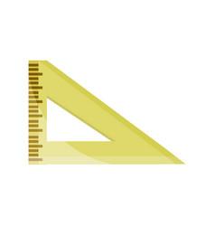 Triangle ruler supply study school education vector