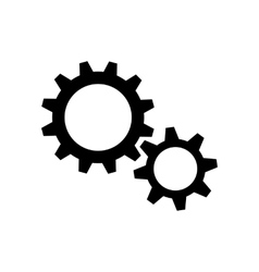 Two black gear wheels vector image