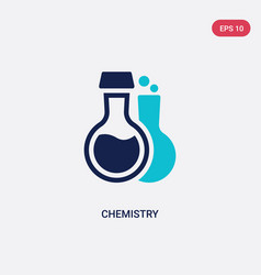 two color chemistry icon from education 2 concept vector image
