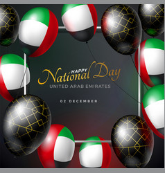 United arab emirates happy national day vector