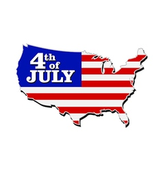 USA Map 4th July vector image
