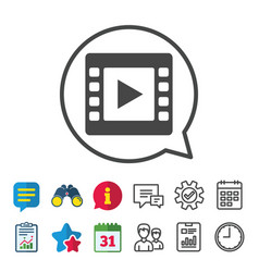 Video sign icon video frame symbol vector