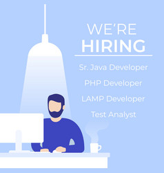 We are hiring software developers banner vector