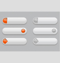 web buttons white 3d icons vector image