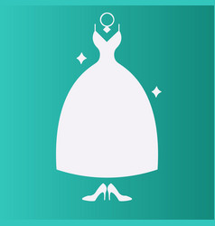 wedding dress for wedding invitations or vector image
